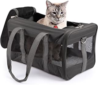 Sherpa, Original Deluxe Travel Pet Carrier, Airline Approved, Padded, Washable, with Carrying Strap, Mesh Windows, Safety ...