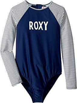 Downtown Lights Long Sleeve One-Piece Rashguard (Big Kids)