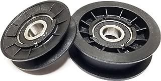 V-Idler Plus Flat Idler Pulley for GX20286 GX20287 (Drive Idlers) Used on John Deere, Sabre, Scotts Mowers
