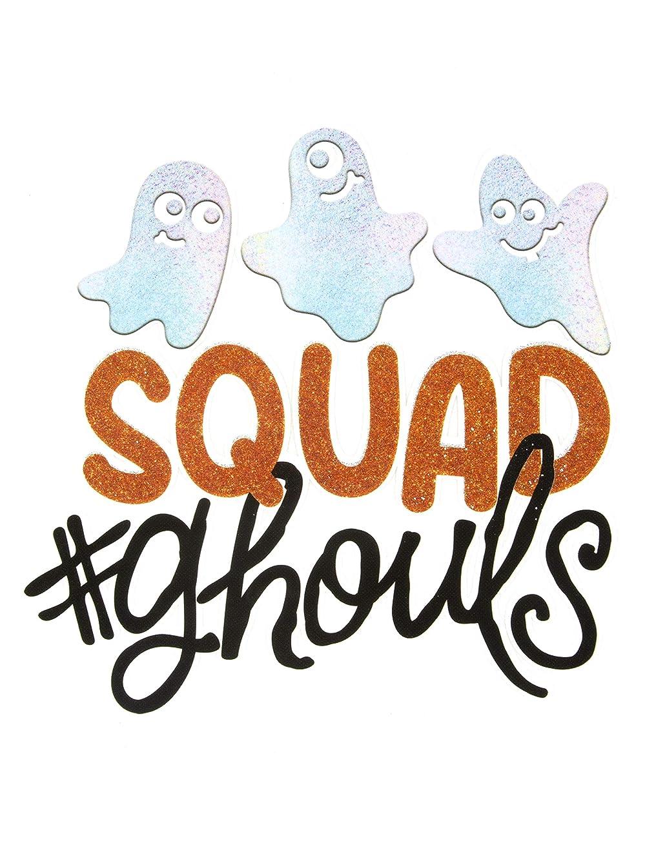 Cousin DIY 39999205 Halloween #SquadGhouls Iron-On Transfer, White, Black, Orange