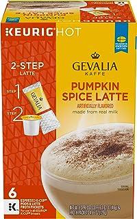Gevalia Pumpkin Spice Latte Espresso K-Cup Coffee Pods and Froth Packets (6 Pods and Froth Packets)