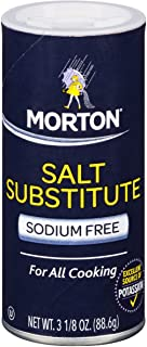 Morton Salt Substitute, Sodium Free, 3.12 Ounce