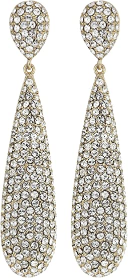 Elongated Pave Teardrop Earrings; Elements By Swarocski
