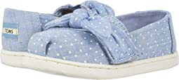 Light Bliss Blue Speckled Chambray Dots/Bow