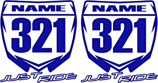 Best mini motocross number plate stickers Reviews