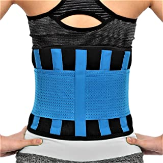 RiptGear Back Brace for Men and Women - Back Pain Relief Support for Lower Back Pain and Hip Pain - Lumbar Severe Back Pain Relief for Herniated Disc and Sciatica (Blue, Medium)