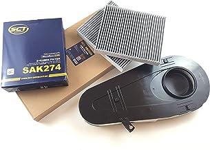 Filtro de aire + 2x Filtro de carbón activo (Juego) SCT Alemania Serie 5F07F10F117etc.