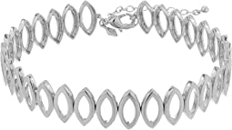 Navette Metal Choker Necklace