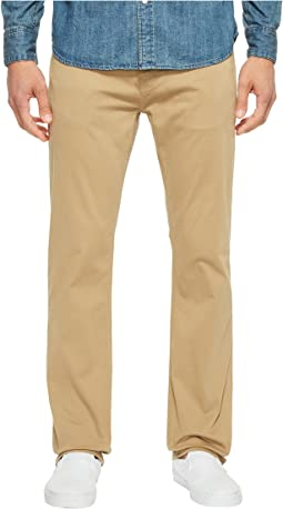 Zach Classic Straight Jeans in British Khaki Twill