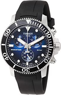 Tissot Men's Seastar 660/1000 Stainless Steel Casual Watch Black T1204171704100
