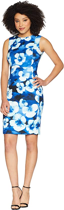 Calvin Klein Floral Printed Sheath Dress CD8M25LM