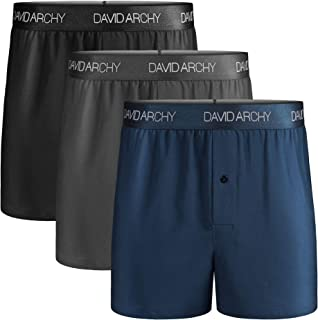 Men's 3 Pack Cotton Underwear Ultra Soft Comfy Boxer Shorts with Fly