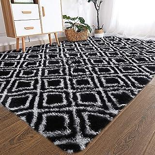 YOH Fuzzy Soft Modern Shaggy Fur Area Rug for Bedroom...