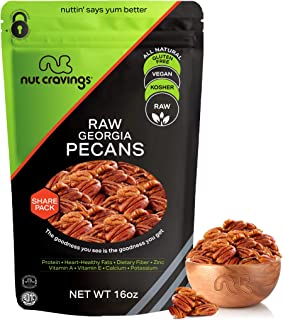 Raw Pecan Halves & Pieces - No Shell, Superior to Organic (16oz - 1 Pound) Packed Fresh in Resealble Bag - Nut Mix Snack -...