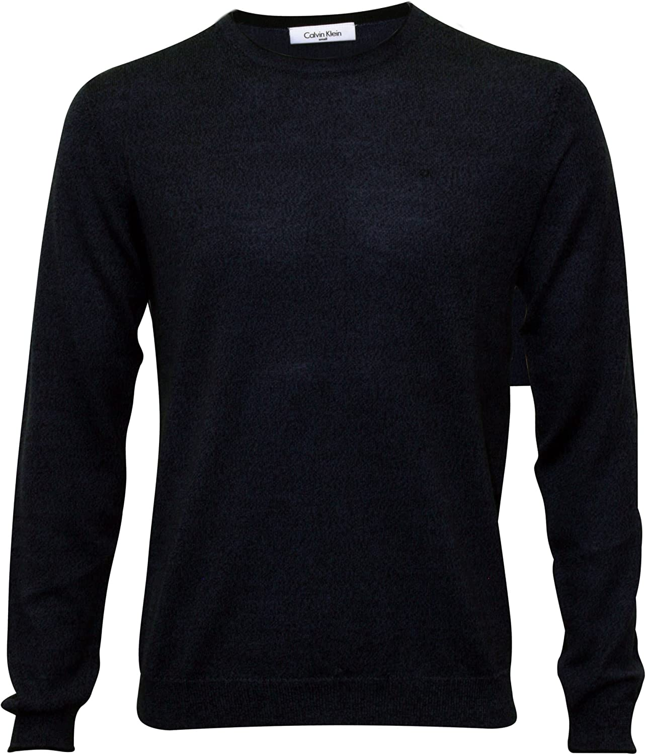 Calvin Klein Crew-Neck Fitted Cheap mail order sales Charcoal Cheap mail order shopping Men's Sweater Knit