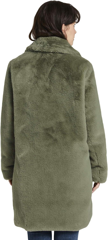 TOM TAILOR Damen Faux Fur Kunstpelzmantel 18938 - Greyish Green