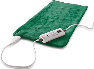 Sunbeam Heating Pad for Fast Pain Relief | X-Large, King XpressHeat, 6 Heat Settings with Auto-Shutoff | Green, 12 x 24 Inch, X-Large