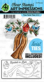 Art Impressions Twist Ties Stamp & Die Set-Tree