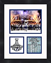 2020 Tampa Bay Stanley Cup Champions Framed 11 x 14 Matted Collage Framed Photos Ready to Hang