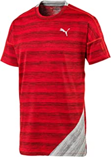 PUMA Men's PACE S/S TEE, High Risk Red Heather/Light Grey