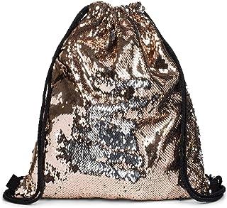 styleBREAKER borsa sportiva hipster con paillettes, zaino, borsa sportiva, bauletto, unisex 02012210, colore:Oro Rosa/Argento