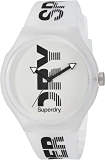 Superdry 'Urban XL Sport' Quartz Plastic and Silicone Casual Watch, Color:Clear (Model: SYG189W)