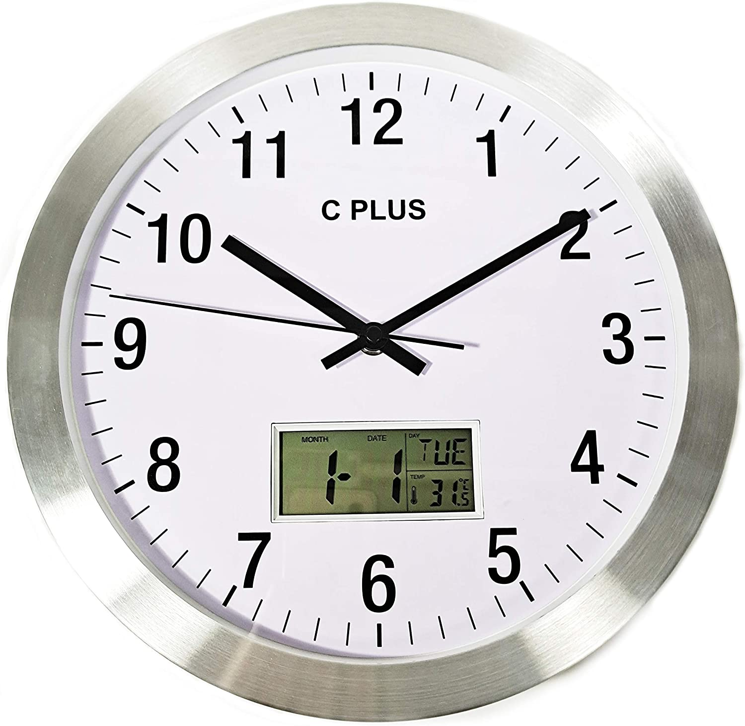 Free Shipping Cheap Bargain Gift C Plus Wall Clock Limited Special Price Non Ticking Qu Operated Silent Battery 12 Inch