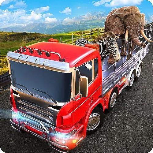 Wild Zoo Tiere Transport LKW Simulator 3D: Tiertransporter Fracht Offroad Truck Parking Racing Driving Abenteuer Spiel 2018