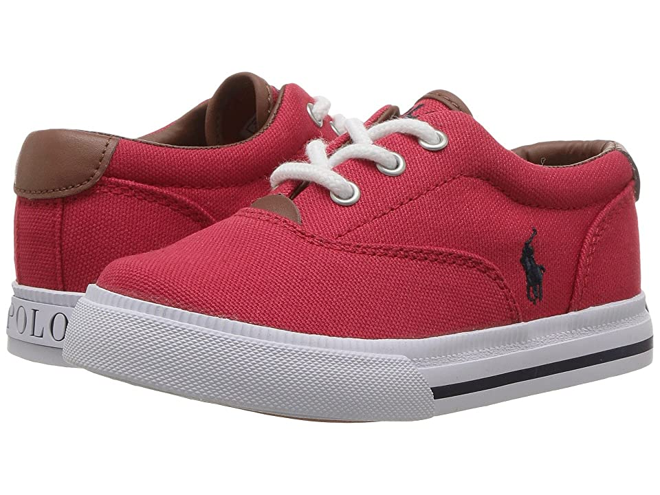 Polo Ralph Lauren Kids Vaughn II (Toddler) (Red Canvas/Navy PP) Kid
