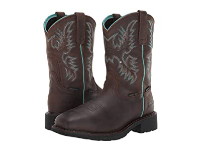 Ariat Krista Pull-On H2O Steel Toe (Dark Brown) Cowboy Boots
