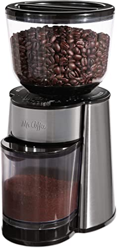 discount Mr. Coffee Automatic discount Burr Mill high quality Coffee Grinder with 18 Custom Grinders, Silver outlet online sale