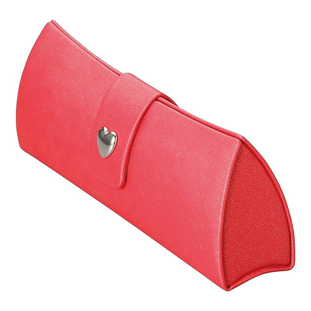 魅力的であることへのアピールトラップスカウトメイガン(Meigan) ハート スナップ が かわいい メガネケース レッド 軽量 コンパクト アルミ ハード 22085