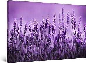 Startonight Canvas Wall Art Purple Levander Field Flowers Artwork Modern Framed Art Painting 80 x 120 cm