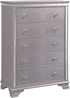 247SHOPATHOME Silvia 5-Drawer Chest, Pink