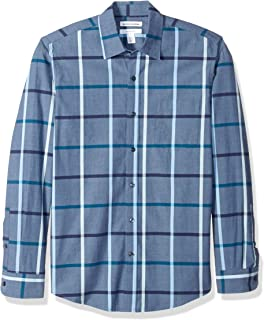 Amazon Essentials Slim-fit Long-Sleeve Stripe Shirt Hombre