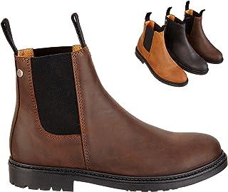 Chelsea Boot »NEW WORK« comfortabele enkellaarzen gemaakt van rundleer Made in Portugal   Rijschoen met robuuste rubberen ...