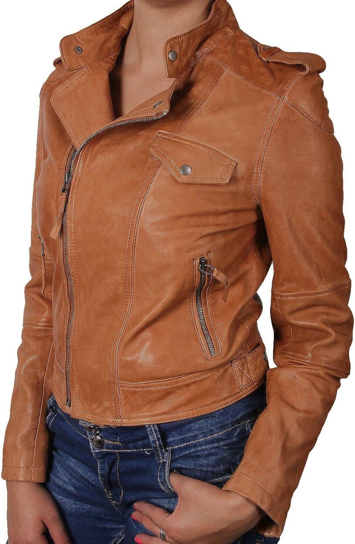 100% New Genuine Leather Lambskin Women Biker Motorcycle Jacket Ladies LTN281