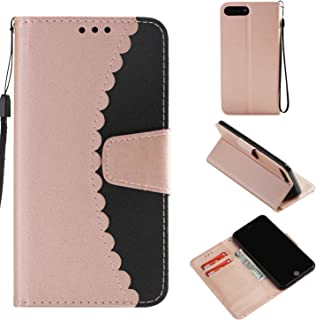 iPhone 8 Plus Case Wallet, iPhone 7 Plus Case, Dooge Durable Folio Flip PU Leather Kickstand Shockproof Wallet Case with Card Holder Slot and Hand Wrist Strap for iPhone 7 Plus/8 Plus