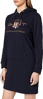 GANT D1. ARCHIVE SHIELD HOODIE DRESS dames jurk