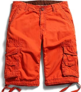 Men's Outdoor Loose fit Cotton Multi Pocket Cargo Shorts