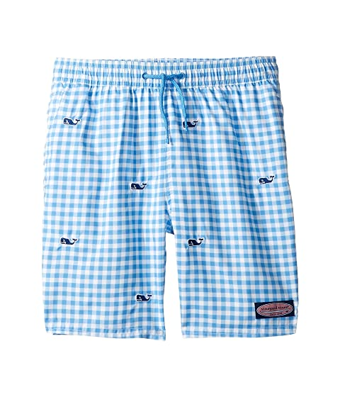 c193fbb164 Vineyard Vines Kids Whale Embroidery Gingham Chappy Trunks (Toddler/Little  Kids/Big Kids)