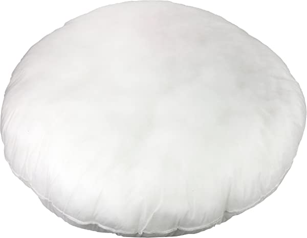 Foamily Premium Hypoallergenic Round Stuffer Pillow Floor Insert Sham Form Polyester 32 L X 32 W Standard White