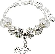 Jewellery Hut Pulsera con abalorio de confirmación para niña con caja de regalo y tarjeta de confirmación