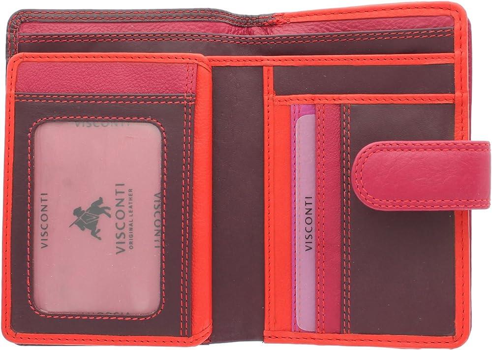 Visconti portafoglio porta carte di credito con protezione anticlonazione per donna in pelle RB51_ac1