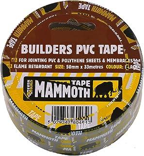 Sika EVB2BTBK50 Builders PVC Tape, 50 mm x 33 m, Black