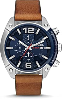 Diesel Men's Overflow Brown Leather Watch DZ4400
