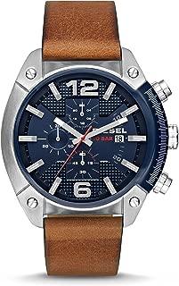 Diesel Men's Overflow Brown Leather Watch DZ4400