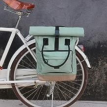 TOURBON Bolsa enrollable de nailon con clip para el mercado, alforjas para bicicletas, bandolera