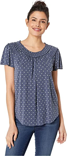 Polka Dot Sandwash Top