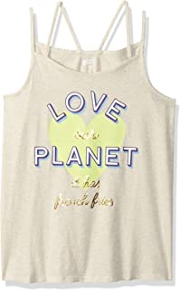 Crazy 8 Big Girls' Double Strap Graphic Tank